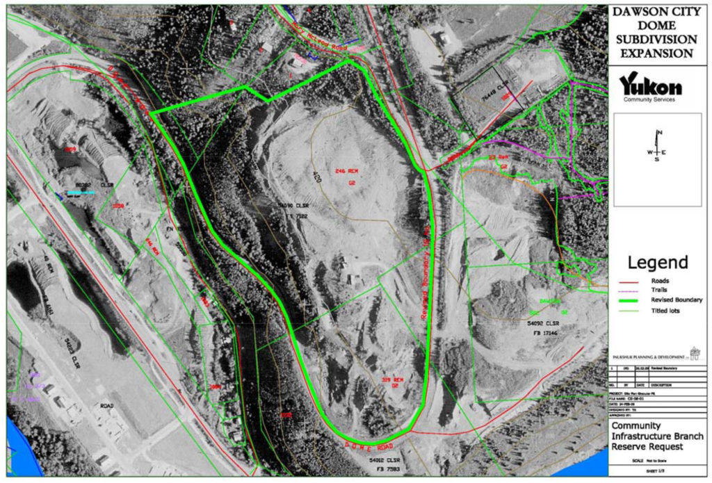 Plan with roads, trails, boundaries and topographic contours superimposed over aerial photo of site